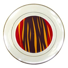 Fire Porcelain Plates by Valentinaart