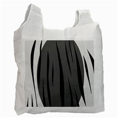 Gray, Black And White Design Recycle Bag (one Side) by Valentinaart