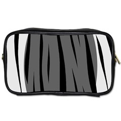 Gray, Black And White Design Toiletries Bags 2 Side by Valentinaart