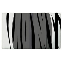 Gray, Black And White Design Apple Ipad 2 Flip Case by Valentinaart