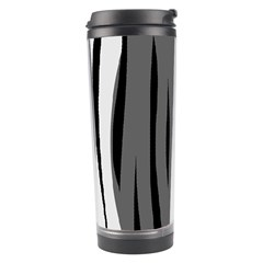 Gray, Black And White Design Travel Tumbler by Valentinaart