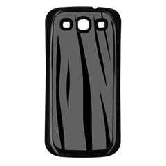 Gray, Black And White Design Samsung Galaxy S3 Back Case (black) by Valentinaart