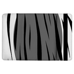 Gray, Black And White Design Ipad Air Flip by Valentinaart