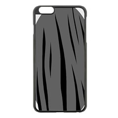 Gray, Black And White Design Apple Iphone 6 Plus/6s Plus Black Enamel Case by Valentinaart
