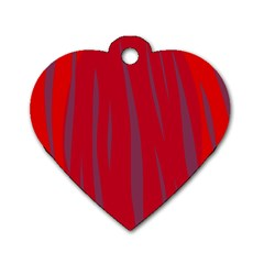Hot lava Dog Tag Heart (One Side)
