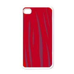 Hot Lava Apple Iphone 4 Case (white) by Valentinaart