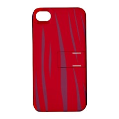 Hot Lava Apple Iphone 4/4s Hardshell Case With Stand by Valentinaart