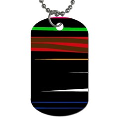 Colorful Lines  Dog Tag (two Sides) by Valentinaart