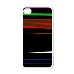 Colorful Lines  Apple Iphone 4 Case (white) by Valentinaart