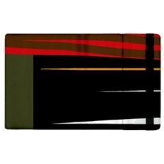 Colorful Lines  Apple Ipad 2 Flip Case by Valentinaart