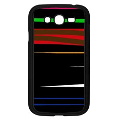 Colorful Lines  Samsung Galaxy Grand Duos I9082 Case (black) by Valentinaart