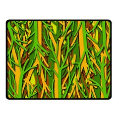 Upside Down Forest Double Sided Fleece Blanket (small)  by Valentinaart