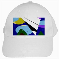 Paper Airplane White Cap by Valentinaart