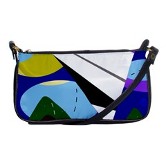 Paper Airplane Shoulder Clutch Bags by Valentinaart