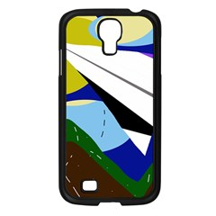 Paper Airplane Samsung Galaxy S4 I9500/ I9505 Case (black) by Valentinaart