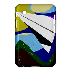 Paper Airplane Samsung Galaxy Tab 2 (7 ) P3100 Hardshell Case  by Valentinaart