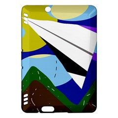 Paper airplane Kindle Fire HDX Hardshell Case by Valentinaart