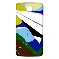 Paper airplane Samsung Galaxy S5 Back Case (White) by Valentinaart