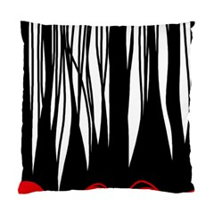 Black Forest Standard Cushion Case (one Side) by Valentinaart