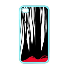 Black Forest Apple Iphone 4 Case (color) by Valentinaart