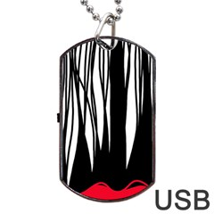 Black Forest Dog Tag Usb Flash (one Side) by Valentinaart