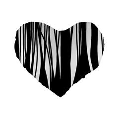Black Forest Standard 16  Premium Heart Shape Cushions by Valentinaart