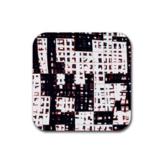 Abstract City Landscape Rubber Coaster (square)  by Valentinaart