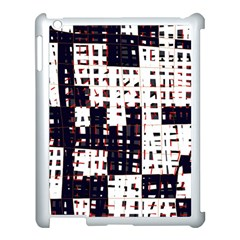 Abstract city landscape Apple iPad 3/4 Case (White) by Valentinaart