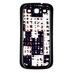 Abstract City Landscape Samsung Galaxy S3 Back Case (black) by Valentinaart