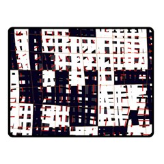 Abstract City Landscape Double Sided Fleece Blanket (small)  by Valentinaart