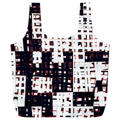 Abstract City Landscape Full Print Recycle Bags (l)  by Valentinaart