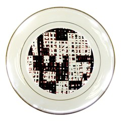 Abstract City Landscape Porcelain Plates by Valentinaart