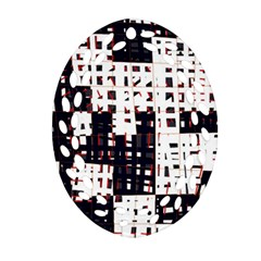 Abstract City Landscape Ornament (oval Filigree)  by Valentinaart
