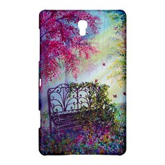 Bench In Spring Forest Samsung Galaxy Tab S (8.4 ) Hardshell Case  by Zeze