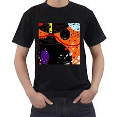 Orange Dream Men s T Shirt (black) by Valentinaart