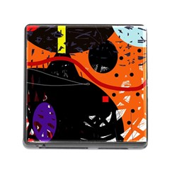 Orange Dream Memory Card Reader (square) by Valentinaart
