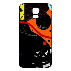 Orange Dream Samsung Galaxy S5 Back Case (white) by Valentinaart