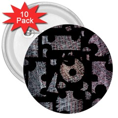 Elegant Puzzle 3  Buttons (10 Pack)  by Valentinaart