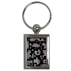 Elegant Puzzle Key Chains (rectangle)  by Valentinaart