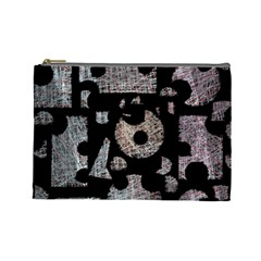 Elegant Puzzle Cosmetic Bag (large)  by Valentinaart