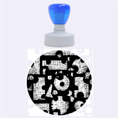 Elegant Puzzle Rubber Round Stamps (large) by Valentinaart