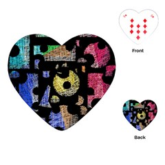 Colorful Puzzle Playing Cards (heart)  by Valentinaart
