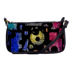 Colorful Puzzle Shoulder Clutch Bags by Valentinaart