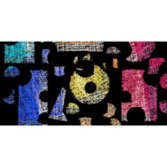 Colorful Puzzle You Are Invited 3d Greeting Card (8x4) by Valentinaart