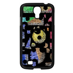 Colorful Puzzle Samsung Galaxy S4 I9500/ I9505 Case (black) by Valentinaart