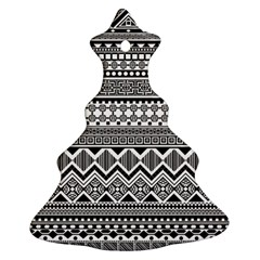 Aztec Pattern Design Ornament (Christmas Tree) by Zeze