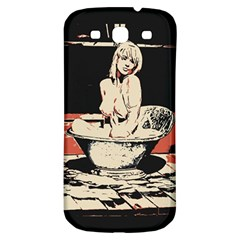 23 Sexy Conte Sketch Girl In Dark Room Naked Boobs Bathing Country Samsung Galaxy S3 S Iii Classic Hardshell Back Case by PeterReiss