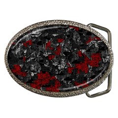 Gray and red decorative art Belt Buckles by Valentinaart