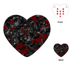 Gray And Red Decorative Art Playing Cards (heart)  by Valentinaart