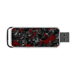 Gray And Red Decorative Art Portable Usb Flash (two Sides)